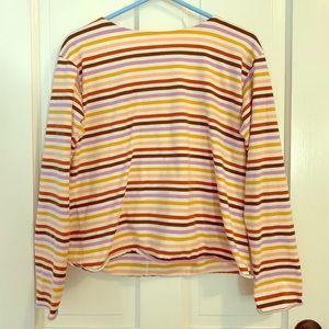 Warm toned striped shirt